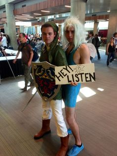 Link and Navi | 30 Unconventional Two-Person Halloween Costumes