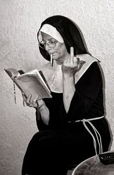 Even nuns do it! Tumblr Wallpaper, Screen Wallpaper, Photo Vintage, Photo Wall Collage, Aesthetic Wallpapers, Photos, Pictures, Batman, Black And White
