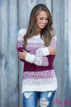 Housewarming Party Knit Sweater Wine
