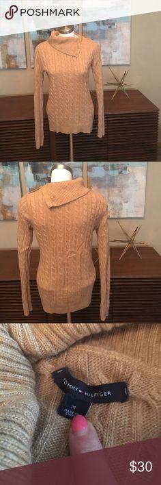 Tommy Hilfiger camel sweater, size M.  EUC Tommy Hilfiger camel sweater, size M.  EUC Tommy Hilfiger Sweaters