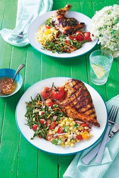 The secret to extra moist grilled chicken is an overnight soak in a hot sauce-laced buttermilk marinade.#easyrecipes #quickeasyrecipes #quickrecipes Summer Chicken Recipes, Spicy Chicken Recipes, Summer Recipes, Smoked Chicken Wings, Chicken Feed, Bbq Chicken, Roasted Chicken, Chicken And Sausage Jambalaya, Lemon Herb Chicken