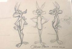 Chuck Jones Model Drawing Wile E. Cyote