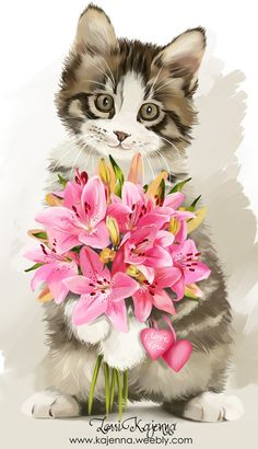 Только от него мне приятно получать  цветы