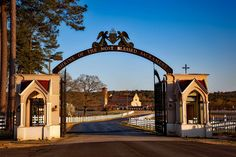 #alabama #catholic #church #countryside #entrance #faith #gateway #hdr #landscape #monastery #most blessed #religion #rural #sacrament #scenic #shrine #sky