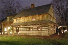 The Morgan Log House, built around 1700 in Kulpsville, PA.  It is the only surviving 2 1/2 story log home in America, and was owned by the grandparents of Daniel Boone.