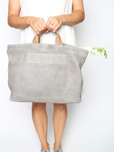 Leather Tote from Shosh New York
