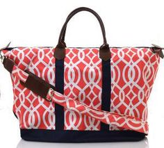 f8b784f05616 Monogrammed Ladies Large Weekend Bag 3 colors