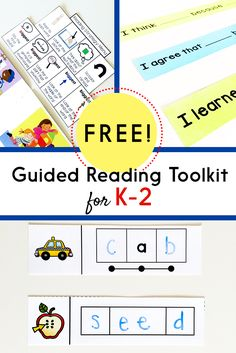 Use these FREE materials to teach decoding strategies, comprehension, phonics, and vocabulary!! Includes a wide range of materials for Kindergarten, first, or second grade.