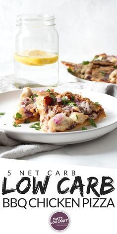 Keto Barbecue Chicken Pizza is one of our all-time favorite low carb pizza options perfect for pizza night any night. Cut the carbs not the flavor when it comes to your pizza. #healthychicken Whole 30 Recipes, New Recipes, Low Carb Recipes, Real Food Recipes, Cooking Recipes, Diabetic Recipes, Sugar Free Barbecue Sauce, Barbecue Chicken Pizza, Low Carb Pizza