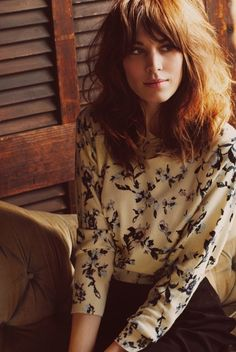 Love the softness in this look, the random wild hair and I love the top.