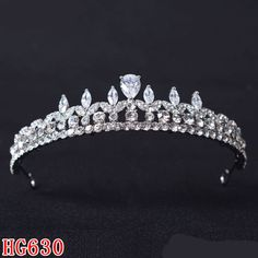 HG630 Gorgeous Wedding Bridal Prom Party Hair Accessories Womens CZ Tiara Crown