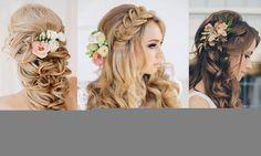 Uno de los estilos más clásicos que nos recuerdan a las princesas, este look se puede adaptar a casi cualquier tipo de vestido o a cualquier tipo de ceremonia. Es vital que tengas el cabello largo y si deseas puedes adornarlo con detalles, flores, tiaras o cualquier otro accesorio que realce tus atributos naturales.