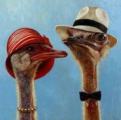 """High Society"" - by Lucia Heffernan Animal Sketches, Animal Drawings, Funny Birds, Funny Animals, Portrait Art, Pet Portraits, Classroom Art Projects, Bird Artwork, Tier Fotos"