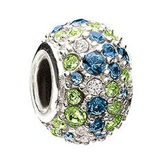 Be The Match Jeweled Kaleidoscope - Blue and Green Swarovski Chamilia Bead #Pandora #Chamilia