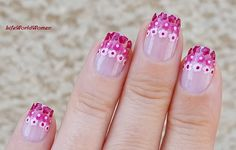 #Pink #Gradient #Flower #Nailart With #Toothpick