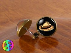 #Undertale butterscotch pie game gamer #gaming fashion stud #earrings jewelry gif,  View more on the LINK: http://www.zeppy.io/product/gb/2/331741141577/
