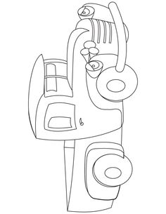 toy truck coloring page - Baby Rocking Horse Coloring Pages