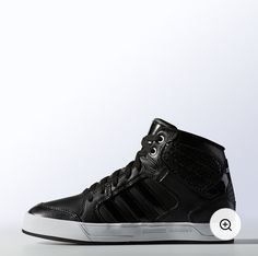 watch feb21 15e0a Black with White Trim Adidas High Tops, Adidas Neo, Workout Shoes, Workout  Gear