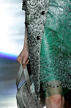 marc jacobs spring 2012. gorgeous green texture. all in the details