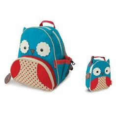 Skip Hop Zoo Backpack and Lunchie- Owl