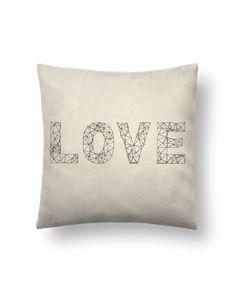 Cojín Piel de Melocotón 45 x 45 cm Love - na.hili #cojines #decorativos #ideas #salon #modernos #divertidos #estampados #personalizados