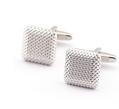 Elegant square cufflinks crafted in gleaming silver mesh make a real statement. Ideal for lending some shine to your cuffs, these stylish and modern cufflinks are an accessory you will soon find indispensible. Gifts For Wedding Party, Wedding Men, Party Gifts, Black Tees, Silver Man, Silver Color, Silver Cuff, Copper Cuff, Gentleman