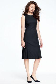 Women s Sleeveless Fluted Skirt Dress 09a3a1f06
