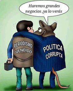 Referente a la #Caricatura de #HumorPolítico de la Crisis de casi 20 años en #Venezuela ¿que es más asqueroso?: si los #Periodistas vendidos a intereses oscuros, los #PolíticosCorruptos o el #Pueblo que no reacciona ||| (*) Más detalles en #Twitter