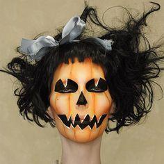 Instagram media by meekamalcou - Close up shot of jack o lantern makeup #makeup #jackolantern #halloween #spooky #photography