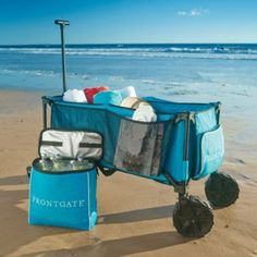 This rugged wagon replaces numerous trips hauling gear, and then folds compactly to store in a car or closet. Outfitted with heavy-duty wheels, it's perfect for maneuvering over sand, down the boat dock, or across fields to a soccer tournament.