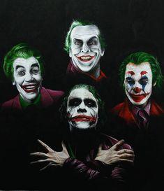 Image may contain: 4 people Le Joker Batman, Heath Ledger Joker, Joker And Harley Quinn, Joker Images, Joker Pics, Hq Marvel, Marvel Dc Comics, Comic Books Art, Comic Art