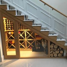 We were thrilled to be involve. We were thrilled to be involved with this project, we refurbished the staircase in Oak and glass, painting the treads and risers to complement the stair carpet runner Oak Stairs, Glass Stairs, Glass Door, Floating Stairs, Cottage Staircase, Under Stairs Wine Cellar, Interior Design Your Home, Home Wine Cellars, Under Stairs Cupboard