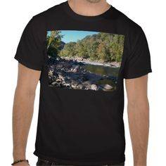 West Virginia River Tee Shirt!  This #Men's #shirt comes in a wide variety of colors and #customizable options to make it your own!  Starting at $16, it would make a great #gift!