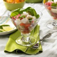 crab ceviche       1 lb. fr crab meat 1 C. fresh lime juice     1  onion   3 pickled jalapenos, seeded, rinsed, & cut in strips     1/4 C. olive oil      s&pep     1/4 tsp. oreg 2 med. tom. sn cilantro   Blend the crab meat in a lg bowl w/o breaking up too much. In a nonmetal bowl, cover crab with lime juice, & ref 4 hours, turning occ.Thinly slice the onion and separate into rings. Add to crab w/ jalapenos,  oil, oreg, S&P Toss and chill.  toss tom and jal w/crab mix. Sprinkle w/ cilantro.