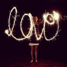 College Prep: How to Photograph Writing With Sparklers