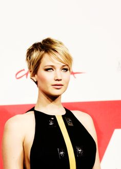 jennifer lawrence; Short hair-