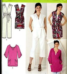 Make this jumpsuit, dress, tunic. Great Separates.  # plus size #sewing #pattern