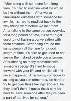 The problem with letting go..