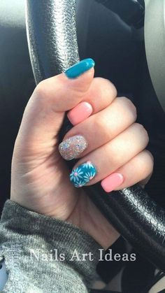 nail designs spring Stunning Acrylic Short Nails Designs You Must Try - Nail Art Connect : Stunning . Stunning Acrylic Short Nails Designs You Must Try Nail Art Connect : Stunning Acrylic Short Nai Fancy Nails, Diy Nails, Cute Nails, Pretty Nails, Short Nail Designs, Nail Designs Spring, Nail Art Designs, Jolie Nail Art, Gel Nagel Design