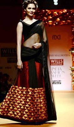 manish malhotra black sarees - Google Search