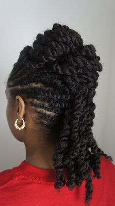 flat twist into two strand twist <3