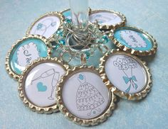 Bridal shower favors wedding wine charms  by WilmaandBetty on Etsy, $24.00