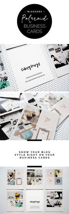 """Branding: Blogger """"Polaroid"""" Business Card Design – via sodapop-design.de"""