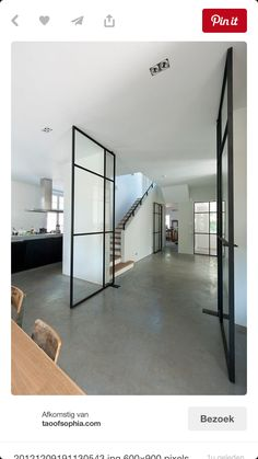 I'm kinda in the mood for some interior inspiration this Saturday afternoon. Dreaming of black framed windows and doors in my future home. Interior Exterior, Interior Door, Interior Architecture, Home Interior, Exterior Design, Internal Doors, Pivot Doors, Front Doors, Steel Doors