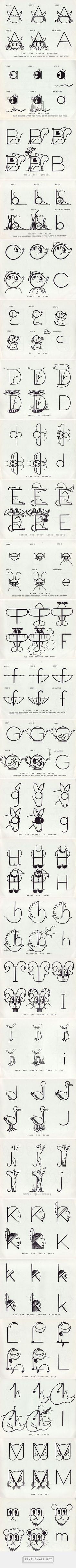 Alphabet Antics (Manuscript) 1955. Part i). | Present&Correct