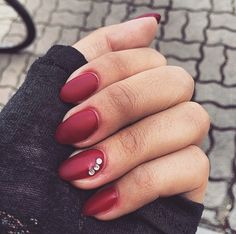 Nails Matt red style idea long