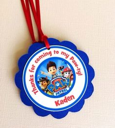 Paw Patrol Favor Tags by BerrySweetParties, $10.00 USD