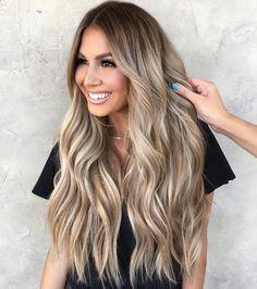 Ombre Hair Color, Hair Color Balayage, Cool Hair Color, Bronde Haircolor, Color For Long Hair, Hair Colors For Summer, Long Hair Colors, Full Balayage, Long Hair Highlights