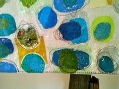 Past Meets Present. Pieced and fused plastic bags meet free-motion stitching for another mod transformation. Fused Plastic, Recycled Plastic Bags, Plastic Art, Recycled Art Projects, Recycled Materials, A Level Textiles, Fusion Art, A Level Art, Vintage Farm