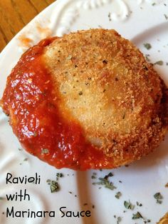 Turnips 2 Tangerines: Toasted Ravioli with Marinara Sauce-Football Friday